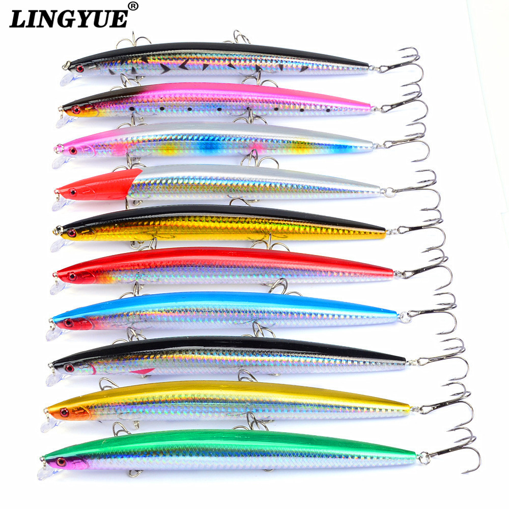 12.5cm//12.4g Fishing Lures 6 Colors Minnow Lure High Quality Carp Fishing Tackle