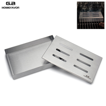 G.a HOMEFAVOR Brand Stainless Steel Cold Smoke Box BBQ Grill Accessories Wooden Chips Square Smoker Generator Outdoor