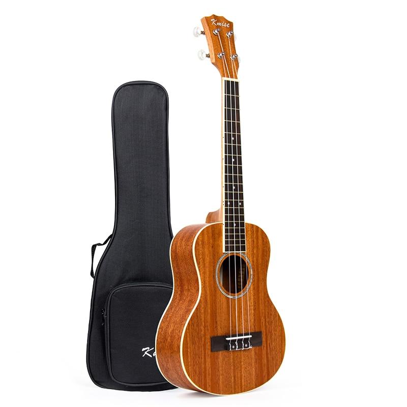 Kmise Ukulélé Ténor Acajou Ukulélé Uke 26 pouce 18 Frettes 4 Chaîne Hawaii Guitare avec Housse