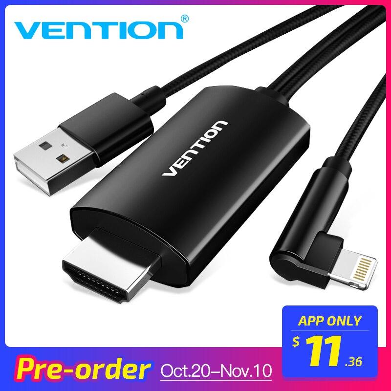 Venção 8 Pinos para HDMI Conversor 1080 p USB Suporte a HDTV TV Digital AV Adapter Cabo HDMI para iPad para iPhone 8X7 6 s Plus IOS