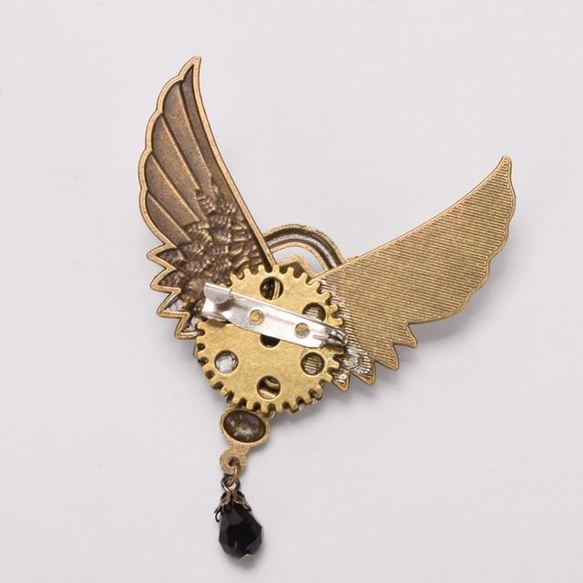 Стимпанк заколка крылья с шестерёнками в ассортименте 1