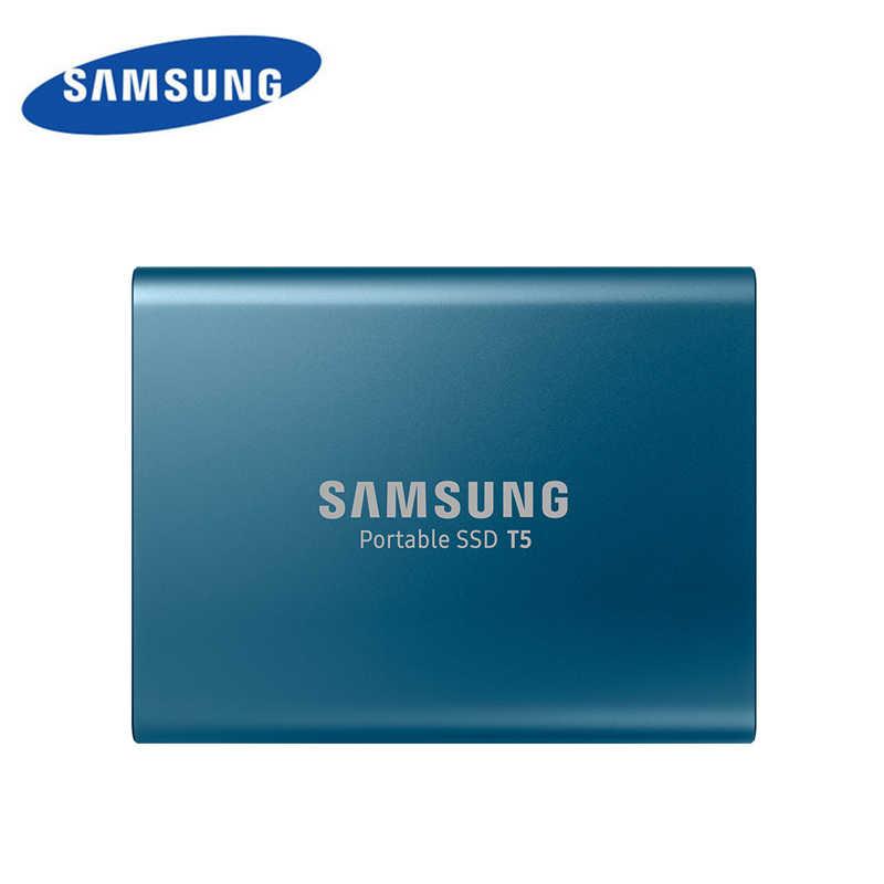 SAMSUNG Bên Ngoài SSD T5 250GB 500GB 1TB Ổ Cứng 2TB Bên Ngoài Rắn Ổ Đĩa HDD gen2 (10 Gbps) dành cho Laptop Máy Tính Để Bàn