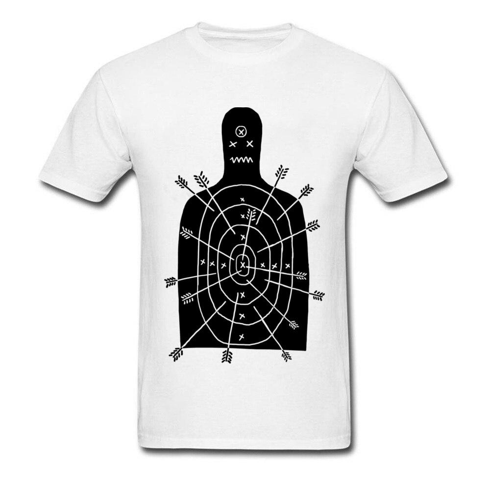 Arch Arrow Aim Game T Shirts Men 80s Style Pure Cotton Shoot