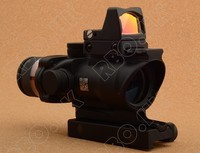 Trijicon Acog Style 4x32 Rifle Scope Red Optical Fiber And Red Dot Sight Scope Free Shipping