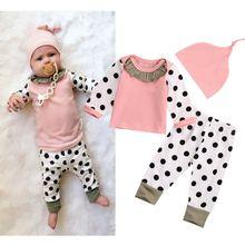 Pink Newborn Girl 3pcs Outfits