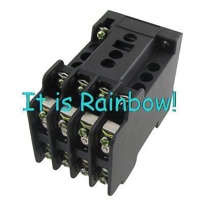Free Shipping AC 220V 50Hz Coil 4NO. 4NC. 4 Poles Contact Type Auxiliary Relay JZ7-44