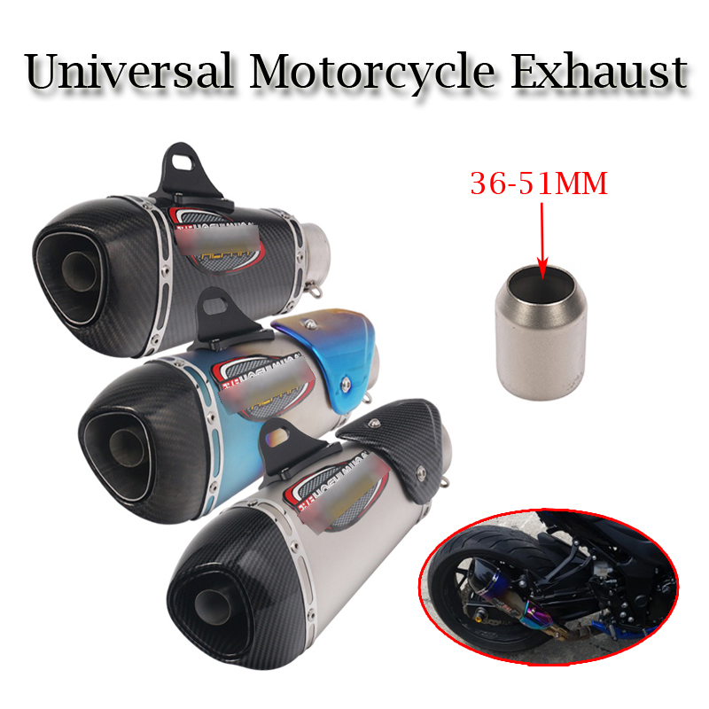 Universal Motorcycle Yoshimura Exhaust Pipe Escape Modified Carbon Muffler DB Killer Silencer For Ninja 400 GSXR600