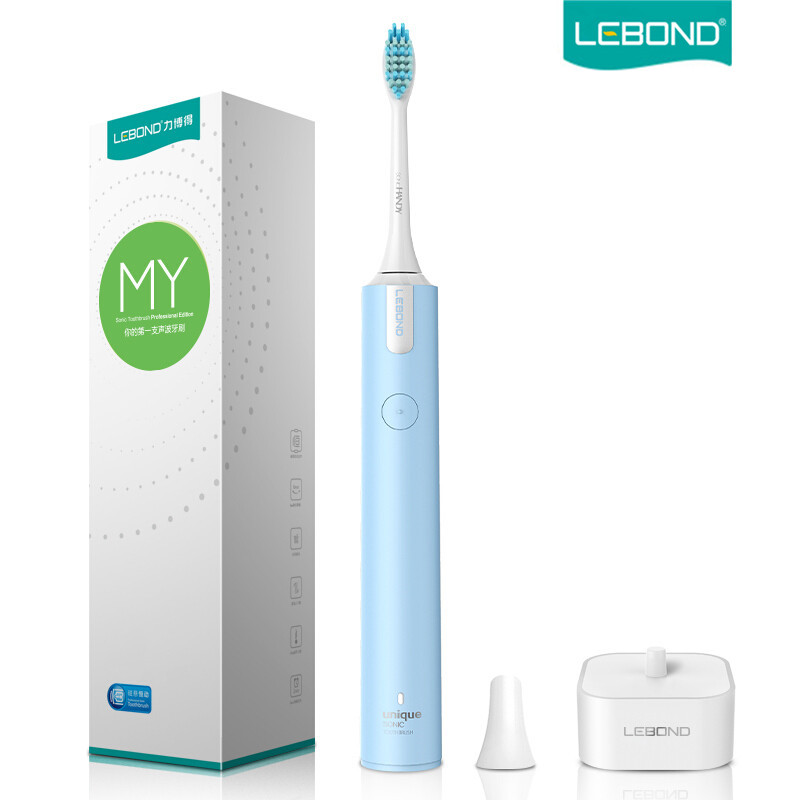 LEBOND Sonic Electric Toothbrush Rechargeable MY Entry Level With Inductive Charger Portable Traveling Waterproof For Adults 2pcs philips sonicare replacement e series electric toothbrush head with cap