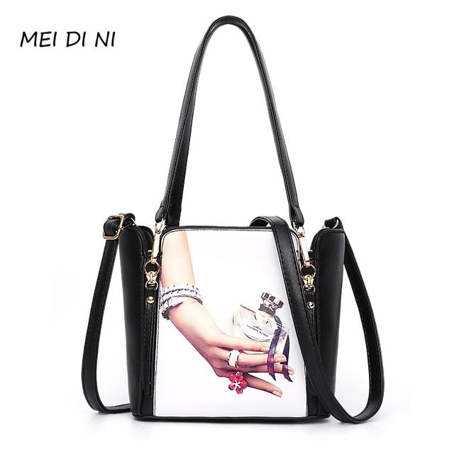 44453268d1 MEI DI NI 2018 PU Leather Handbags Ladies Large Tote Bag Female Square  Shoulder Bags Bolsas Femininas Sac tassen Crossbody Bags