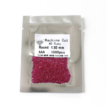 Hot sale 1mm-3mm green nano gemstone 5# ruby  113# spinel  106# spinel black spinel gemstone hot sale sperm count board with red ruby