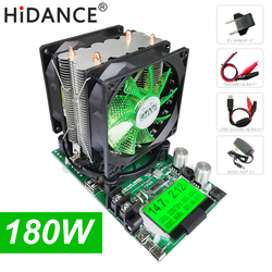 Probador de capacidad de batería Digital de 180W indicador de fuente de alimentación CC 12V carga electrónica 18650 resistencia de descargador prueba de comprobación usb