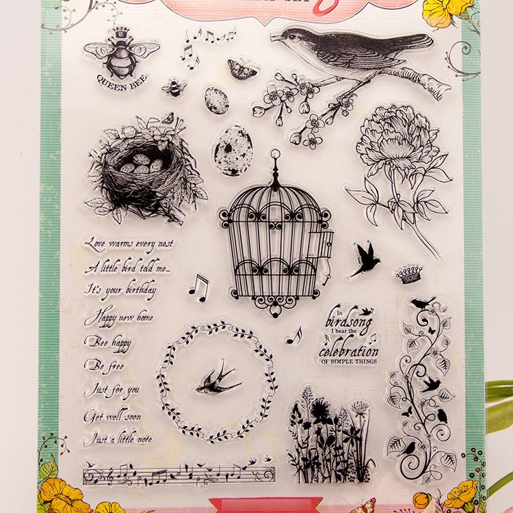 DIY scrapbook album transparent silicone rubber stamp seal Flowers YZ-flowers