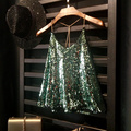 Women Camis Tank tops Shiny Sequin Vest Bling Chain Spaghatti Party Camisole Shimmer Flashy All Sequins Embellished Sparkle Vest