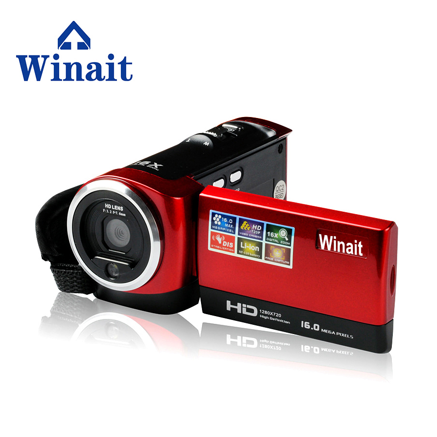 Winait 16 Mp 720P 2.4 inch TFT Display 16 X Digital Zoom Digital Video Camera Portable DVR Camcorder Cheap Freeshipping DV C6