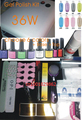 Gel Polish Set Soak Off JunYu Gel Kit UV 36W Curing Lamp File Nail Art Diy Tools With Base Top Coat Cleanser Buffer Remover