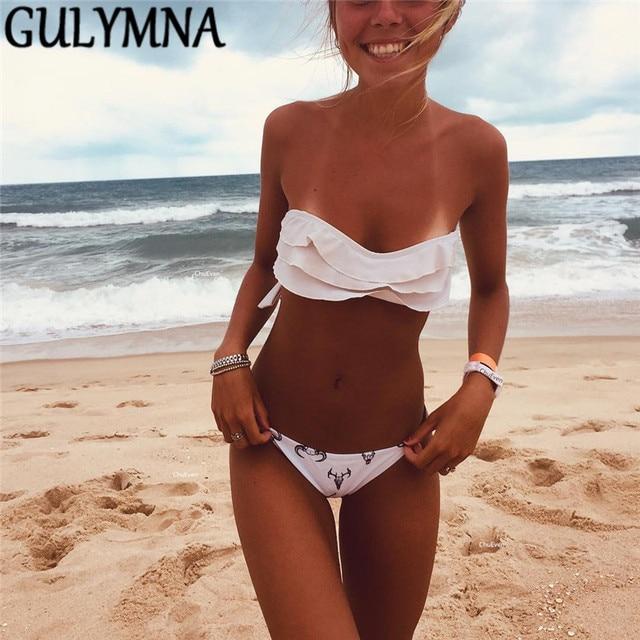 GULYMNA Print Brazilian Bikini 2019 Swimwear Women Mayo Swimsuit Biquini Sexy Beach Wear Maillot De Bain Femme Bathing Suit Hot