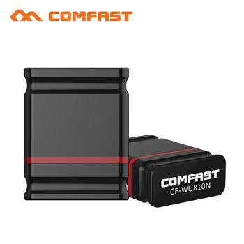 Comfast USB Wireless WiFi Adapter wbudowany 2dBi antena 150Mbps Wi Fi sieć LAN Karta 802 11 b g n Mini adapter do komputerów stacjonarnych tanie i dobre opinie Zewnętrznych Bezprzewodowy ZŁĄCZE USB 2 0 CF-WU810 802 11 na n FCC CE RoHS Pulpitu Ethernet Pojedyncza częstotliwość (2 4-2 4835 GHz)