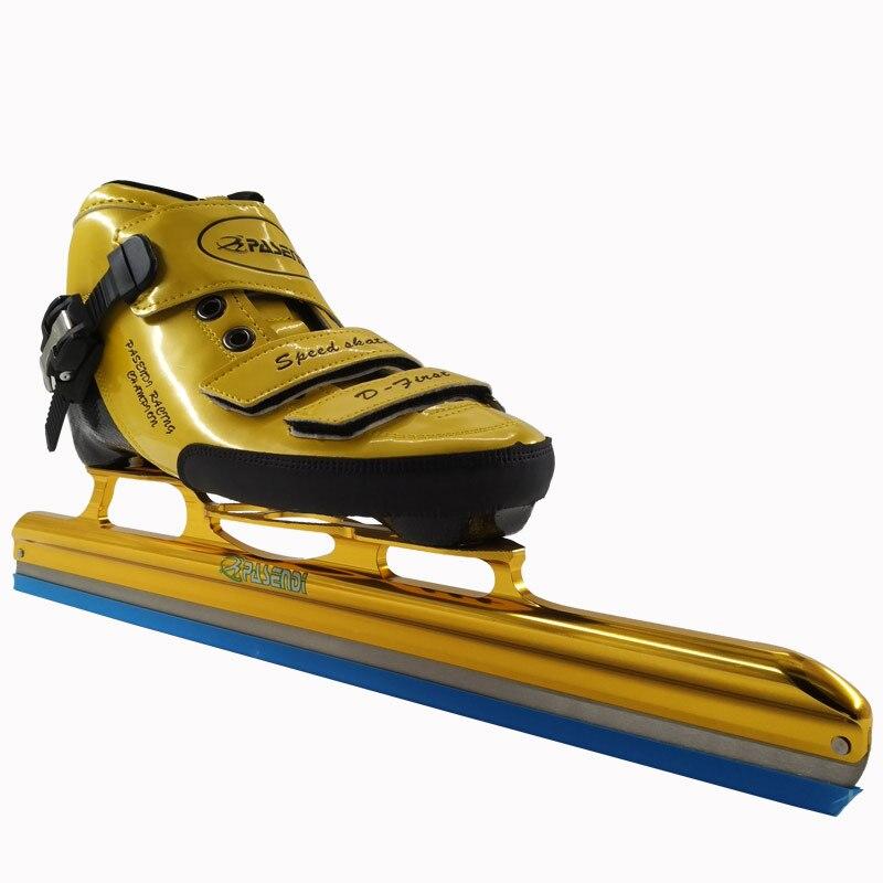 Prix pour PASENDI Professionnel Patins à roulettes Adultes patins de hockey sur glace Longue Boot Skate glace de Carbone lame Inline Vitesse patins Rouleaux Chaussures