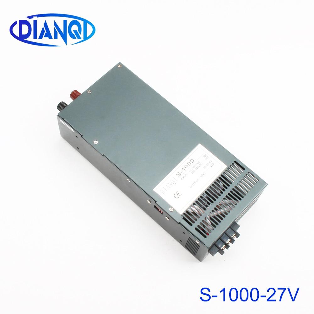 DIANQI 1000 W 27 V 37A alimentation réglable Sortie Unique alimentation à découpage AC à DC 110 V ou 220 V sélectionner par le commutateur