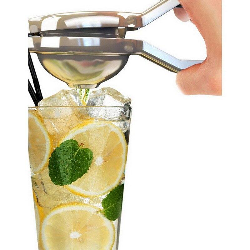 Lemon lime orange exprimidor exprimidor de prensa de acero inoxidable barra de l