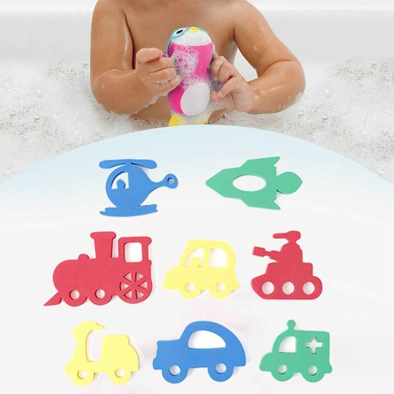 Kids Water Toys For Bathroom Cute Cartoon Animal Transportation Puzzle Baby Bath Toys Early Educational Suction Up Toy