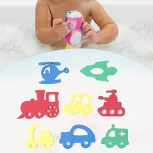 Kids Water Toys For Bathroom Cute Cartoon Animal Transportation Puzzle Baby Bath Toys Early Educational Suction Up Toy(China)