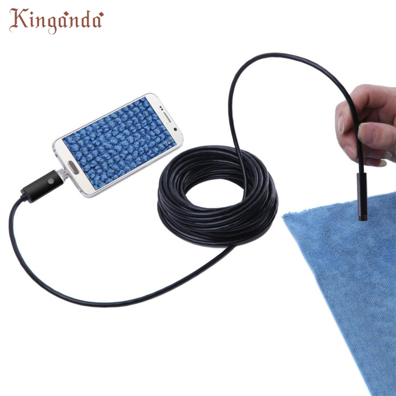 Webcam 2 M 6 LED 5.5mm Lentille 2IN1 Endoscope D'inspection Étanche Est Venu Pour Android Camara Web Drop Shipping 17Aug10