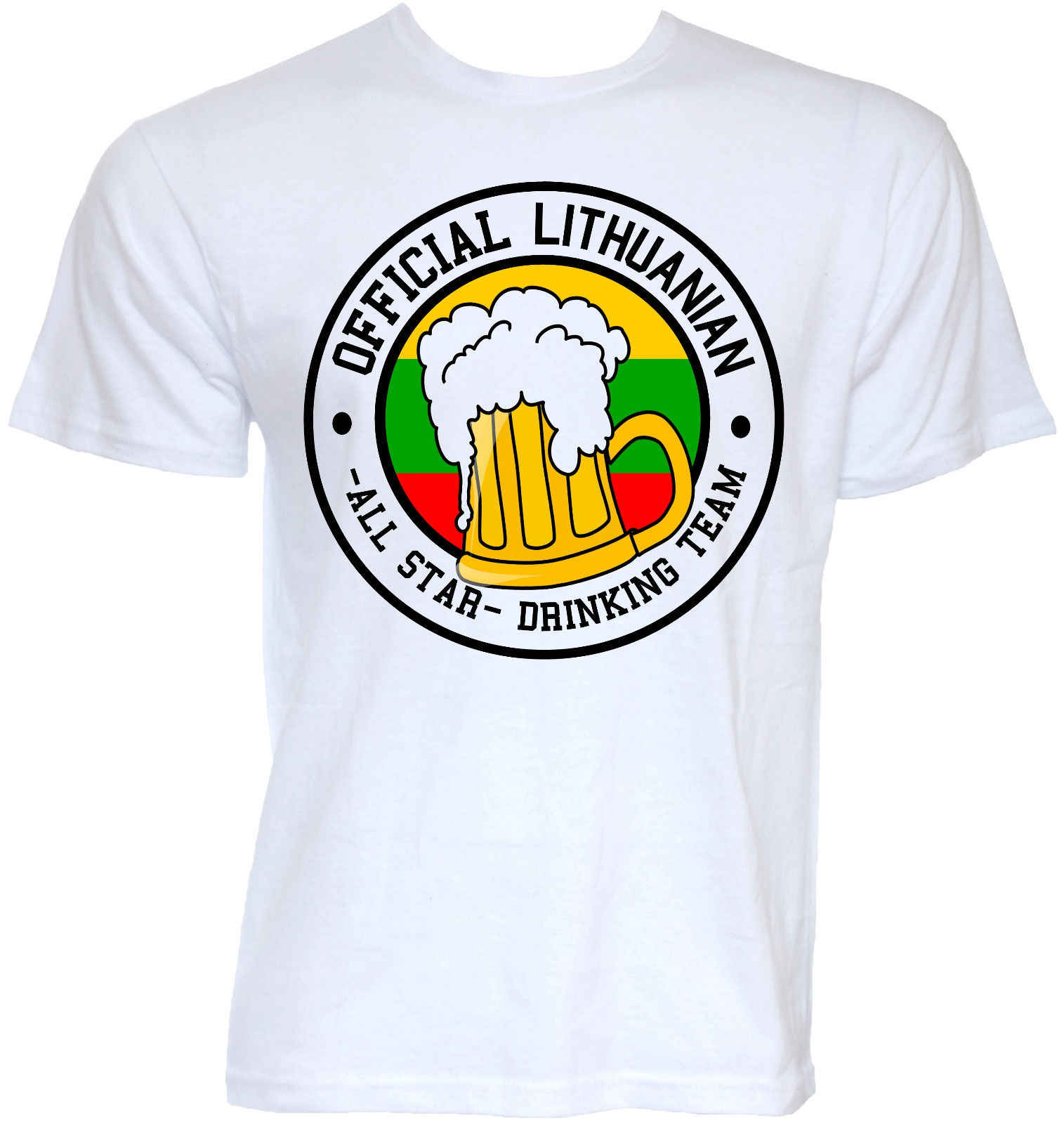 38a6c2d415b74 Для мужчин s Забавный Прохладный Новинка литовский пива команды Литва флаг  шутка футболки подарки футболка Для