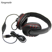 New USB Wired Stereo Micphone Gaming Headphone For Sony PS3 PS4 PC Free Shipping H1T07