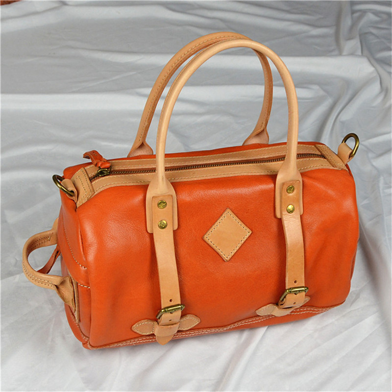 Nesitu Vintage Brown Black Red Coffee Yellow Vegatable Tanned Genuine Leather Women Handbags Girl Shoulder Messenger Bags M32070