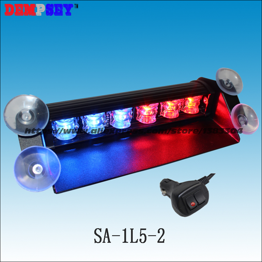 Hot Sale Sa-1l5-2 Car Covers Police Fire Engineering Emergency Windshield/traffic Road Safety Strobe Lights/red&blue Warning Deck Light Aromatic Flavor Alarm Lamp