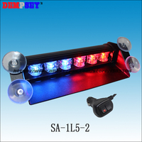 SA 1L5 2 Car covers Police Fire Engineering Emergency Windshield/Traffic Road Safety Strobe Lights/Red&Blue warning deck light