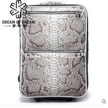 mengzhongmeng Python skin Pull rod box 18 – inch universal wheel hardbox password boarding men women luggage