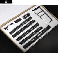 958 couverture de tableau de bord de couverture de poignée de porte intérieure en Fiber de carbone pour Porsche Cayenne 958 11-17