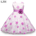 LZH Girls Princess Dress 2017 Summer Flower Girls Wedding Party Dress Cinderella Dress Kids Costume Dress For Girl 10 11 12 Year