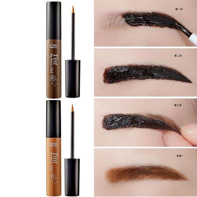 THE NEW Peel off Eyebrow Tint Gel Tattoo Makeup Eyebrow Cream Dye ...