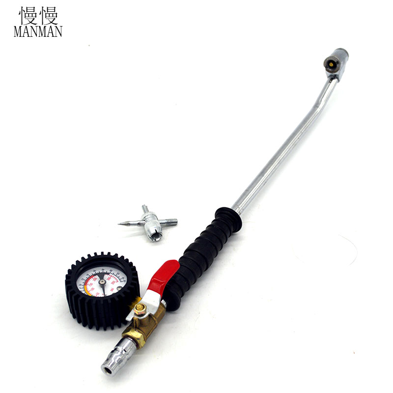 NEW 1PCS Tire pressure gauge for rapid inflatable pressure testing with switch