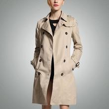 2016 весной мода свободного покроя Большой размер длинный плащ для женщин двубортный тонкий ветровка женский верхняя одежда пальто пончо тренчи тренч