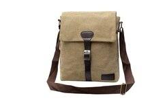 Hot Men Messenger Bags Canvas Vintage Bag Men Shoulder Crossbody Bags for Man Brown Black Small Bag Designer Handbags   LJ-088