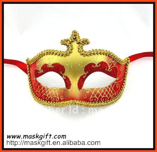 В венецианском стиле Красная и Золотая Маскарадная маска, Карнавальная маска