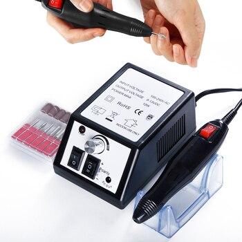 Aparato de perforación de uñas eléctrico para manicura Gel removedor de cutículas juego de brocas 20000RPM pedicura cortadores de máquina Kit de uñas