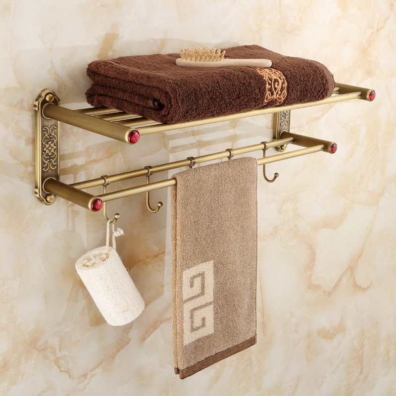 Bathroom shelf copper double layer bathroom corner shelf bathroom holder showeroom basket bathroom accessories станислав востоков президент и его министры