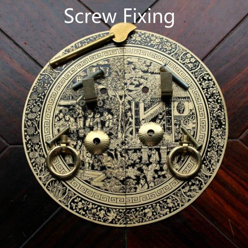 cobre Knocker Armario armario vintage Tirador de puerta Tiradores para muebles Tiradores antiguos-BronceUTipo aguja-11Cm Tirador para muebles chino