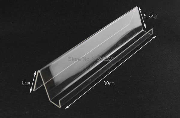 50pcs Long Shelf Acrylic Display rack holder Mobile Cell Phone Holder Display Stand For phone rack
