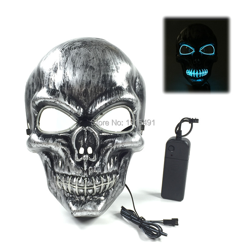 Fashionable Horrible Glittery EL-tråd Scared Mask Holiday Lighting - Festlig belysning - Foto 4