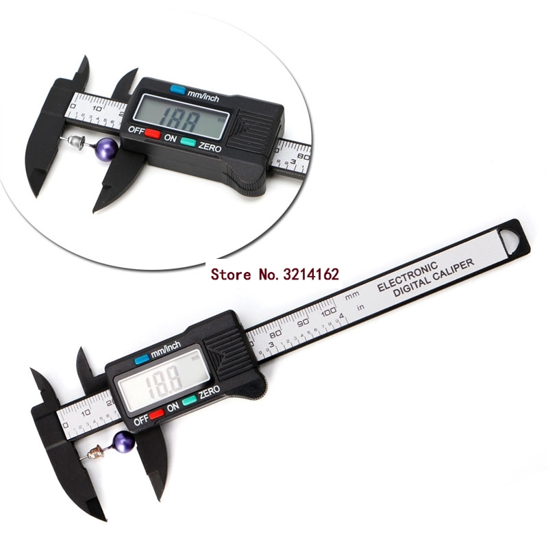 New 100mm LCD Digital Electronic Carbon Fiber Vernier Caliper Gauge Micrometer Measuring Stone Bead Gem Jewelry <font><b>Tool</b></font> <font><b>YX</b></font># 07NOV image