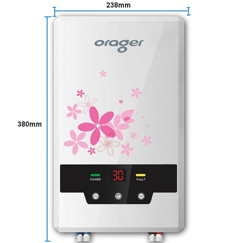 8500w Bathroom Water Heater Electric Tankless Induction Instantaneous Endless Hot Water Shower For Hotel School Dormitory Sink