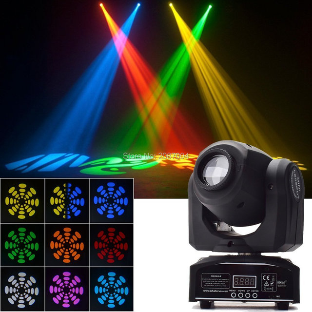 8pcs Lot 30watt Led Mini Moving Head Spot Light Gobo Color Wheel