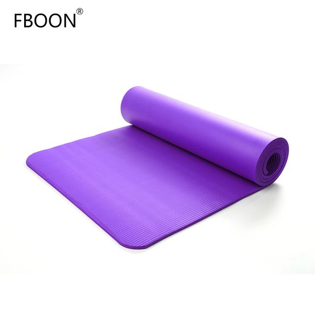 FBOON NBR Foam Yoga Mats Non-slip Gym Home Sport Fitness Pilates Exercise Pad Training Mat for Women Body Building Equipments