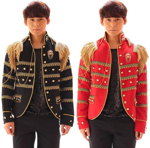 91340a26d Negro rojo hombres traje blazers 2017 diseños chaqueta terno ropa trajes de  la etapa para cantantes